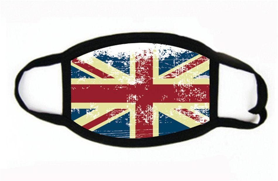 Reutilizable estadounidense Reino Unido Alemania Canadá impresión de la bandera máscara máscaras ajustables lavables Ciclismo Headsca protectora partido de la máscara # 624