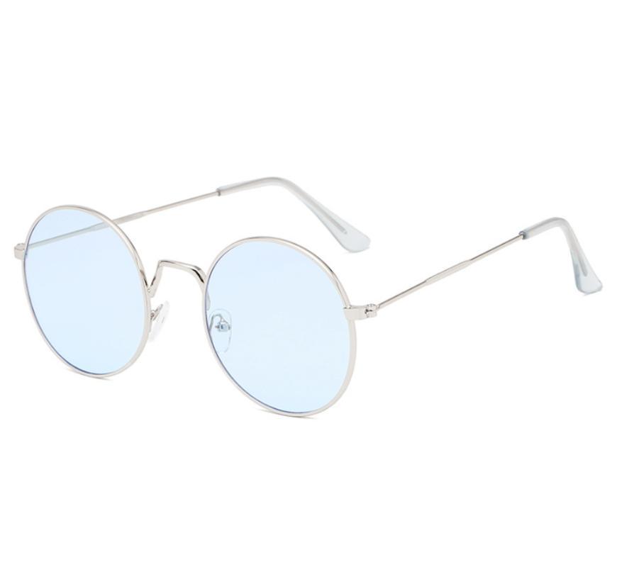 2020 Vintage Femmes lunettes rondes-Frame Lunettes de soleil en métal personnalité Tendance Lunettes Lunettes de soleil Lunettes de soleil UV400 Driving