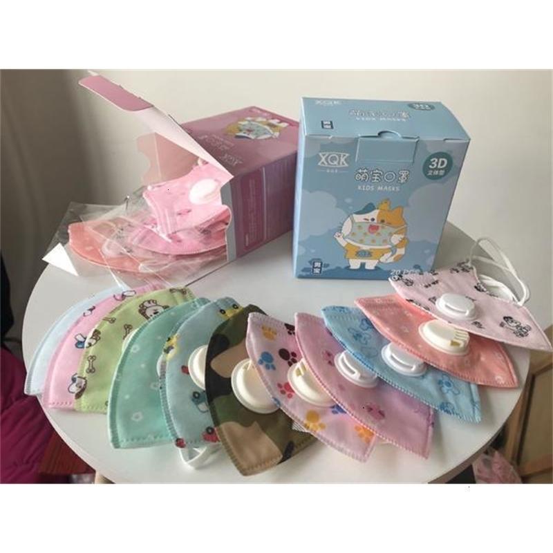 2020 cartone animato faccia Valve strati maschere doppio filtro di sfiato di protezione 5 riutilizzabile lavabile bambini H2xt