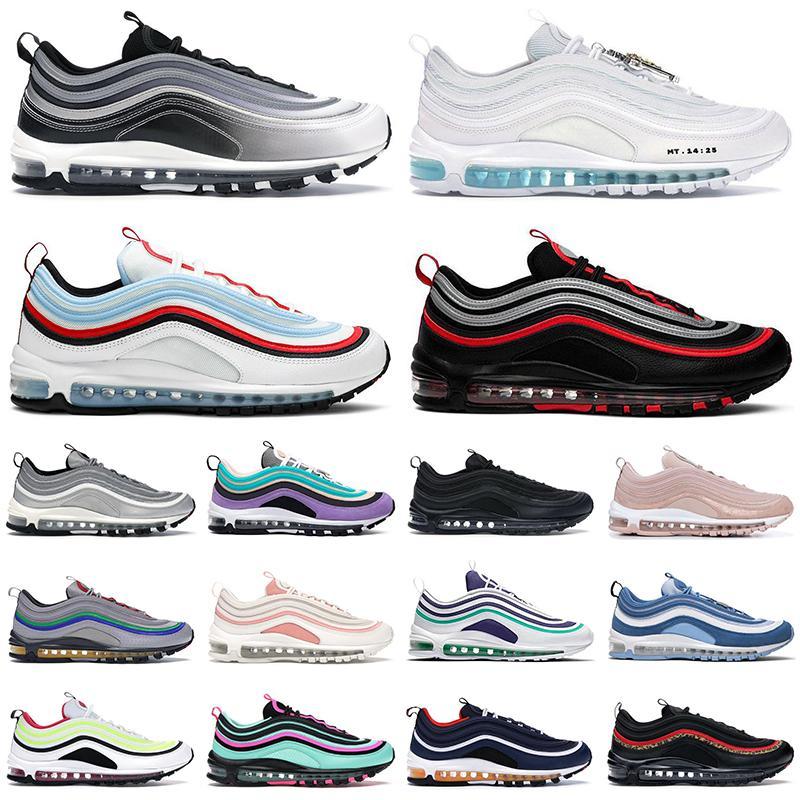 Новые 97 мужские женские кроссовки Triple white black Sean Wotherspoon South Beach Alternate Light Blue 97s мужские кроссовки для спорта на открытом воздухе