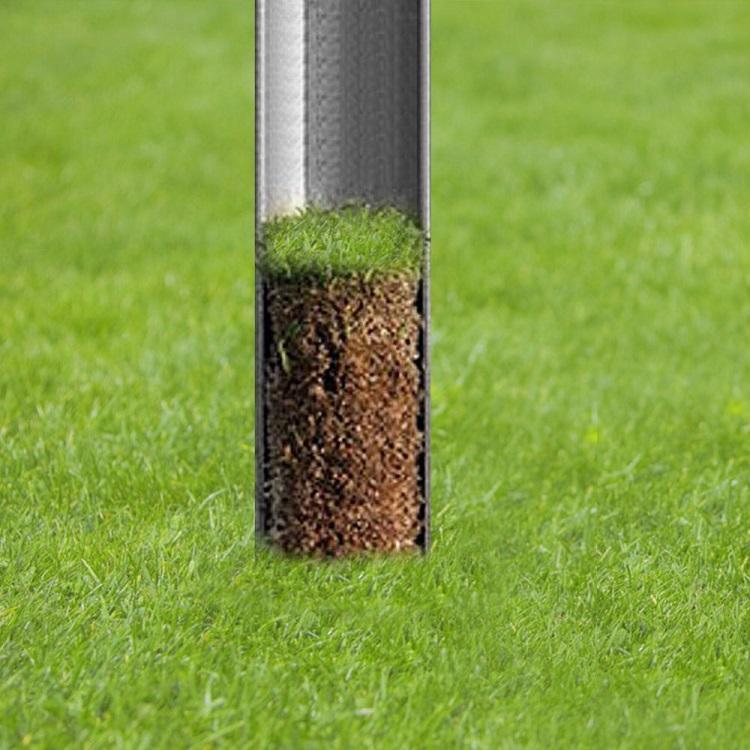 أداة صيانة الحديقة التربة عينات التحقيق 20 بوصة الفولاذ المقاوم للصدأ التربة العشب مجموعات اختبار جولف الميدان أخذ العينات الأرض
