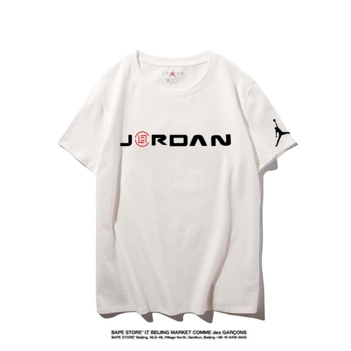 Jordan Hohe Qualität Neuer Brief Printing Short Sleeve Mode Aufmaß Cotton Hip Hop-Männer Frauen Paar Designer-T-Shirt S-XXL # 22899