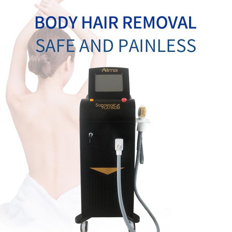 Лучшие продажи машины для удаления волос Новый Диодный лазер с длиной волны удаления три 808nm + 755nm + 1064 постоянный волос безболезненным для салона и спа