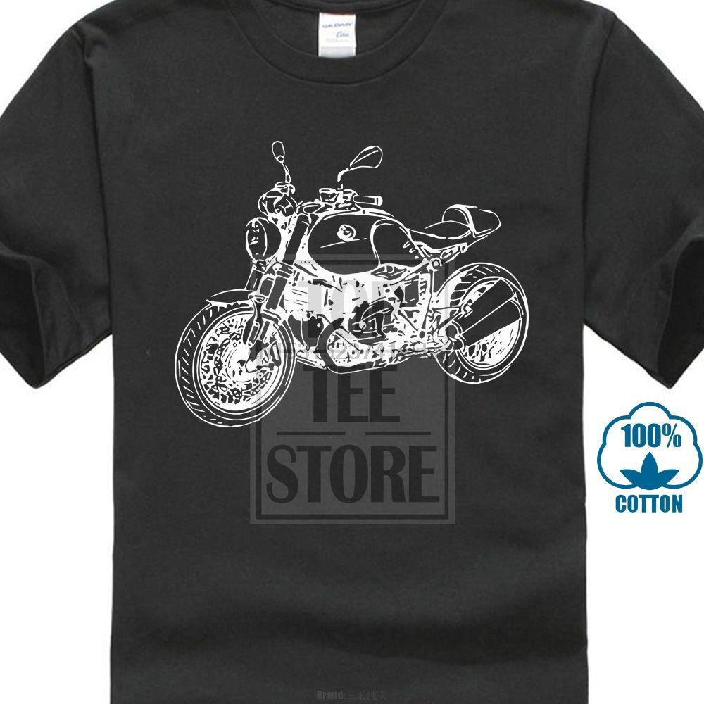 2020 Fashion Rninet-T-Shirt Mit Grafik R Ninet Motorcycyle Rally R Nine T Motorrad Fahrer-T-Shirt