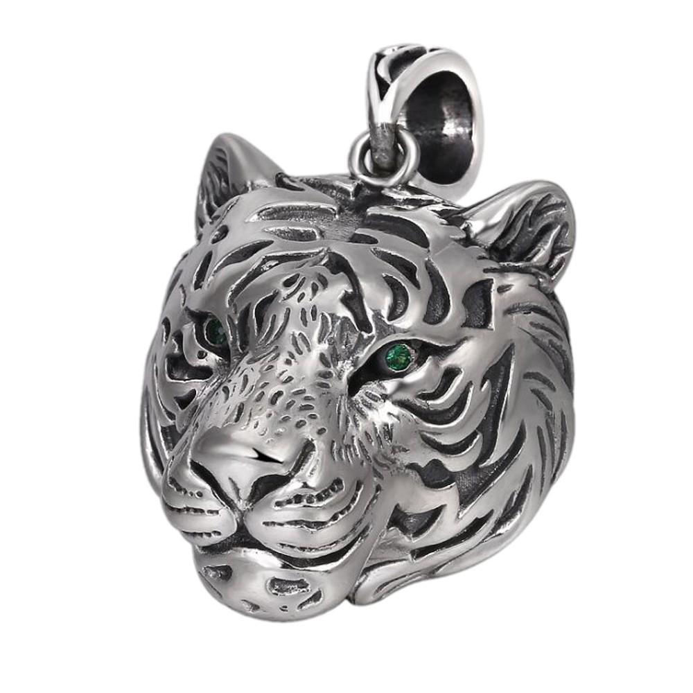 925 bijoux de mode pendentif personnalité en argent massif dominateur des hommes d'argent thaïlandais pendentif tête de tigre creuse