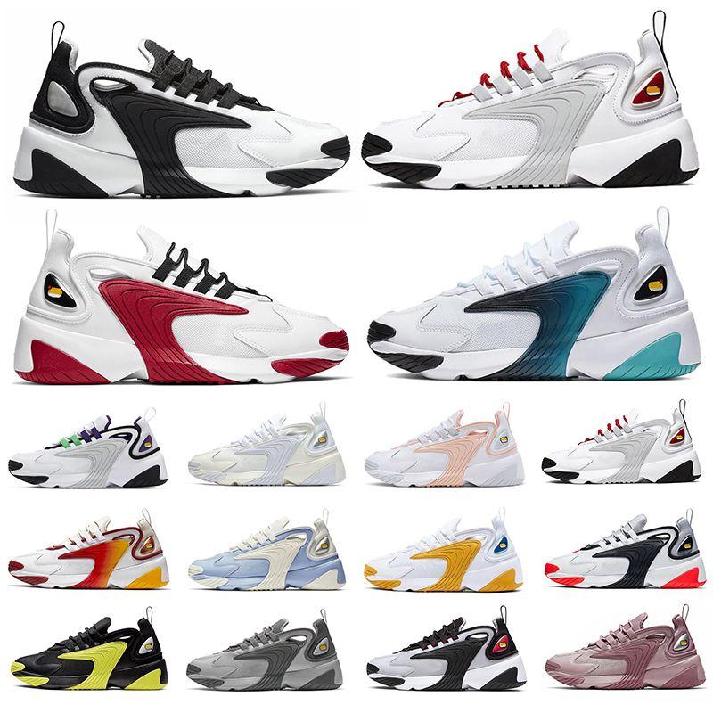 Nike Zoom 2k m2k Tekno Air M2k Tekno Zoom 2K Unisex Männer Frauen Laufschuhe Triple White Black Volt Light Cream Outdoor-Plattform Sport Turnschuhe Herren Trainer 36-45