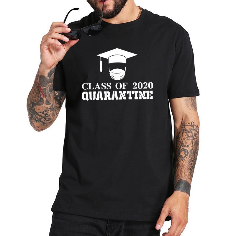 Classe de 2020 Quarentena Idosos graduação T Shirt O-Neck respirável aptidão Tops Básico manga curta Camisetas