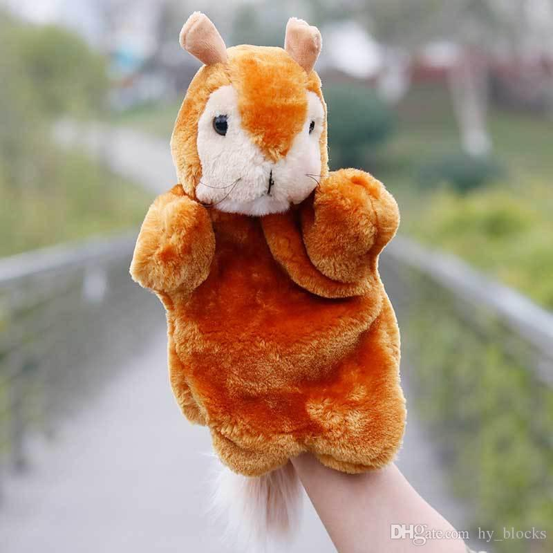 Animal Plush Hand Puppets Soft Toy Cartoon Dolls Puppets Plush Toys Baby Educational Stuffed Pretend Telling Story Doll For Baby Gifts