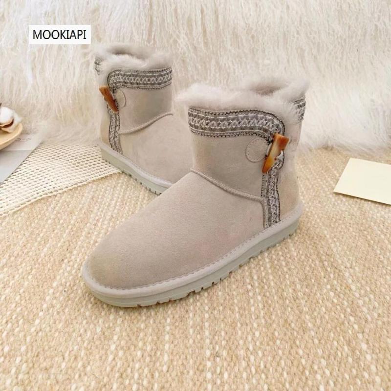 2020 mais altas botas de neve de qualidade da Austrália, pele de carneiro real, lã natural, tubo bordado sapatos femininos curtas, 3 cores