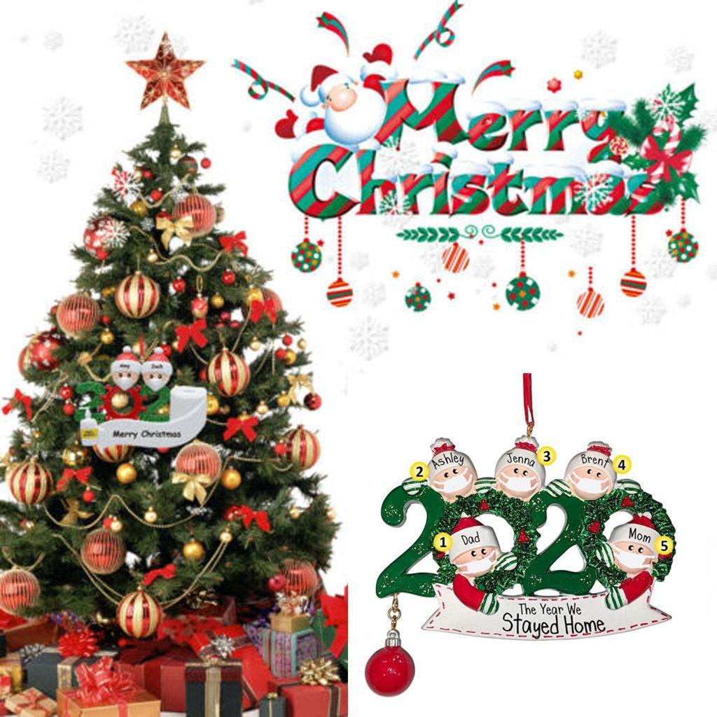 2020 검역소 크리스마스 생일 파티 장식 올해 우리 주 홈 선물 제품 개인 가족 장식 대유행의 FY4278에서