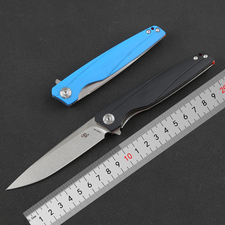 CH original 3007 Flipper folding knife D2 Blade ball bearings G10 handle camping pocket outdoor knives EDC tools