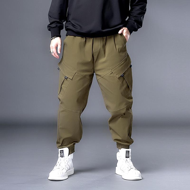 Plus 7XL 6XL XXXXXL hombres Hip Hop Negro Pantalones Cargo corredores Sweatpants Trajes de hombres Streetwear Harem las modas de los pantalones