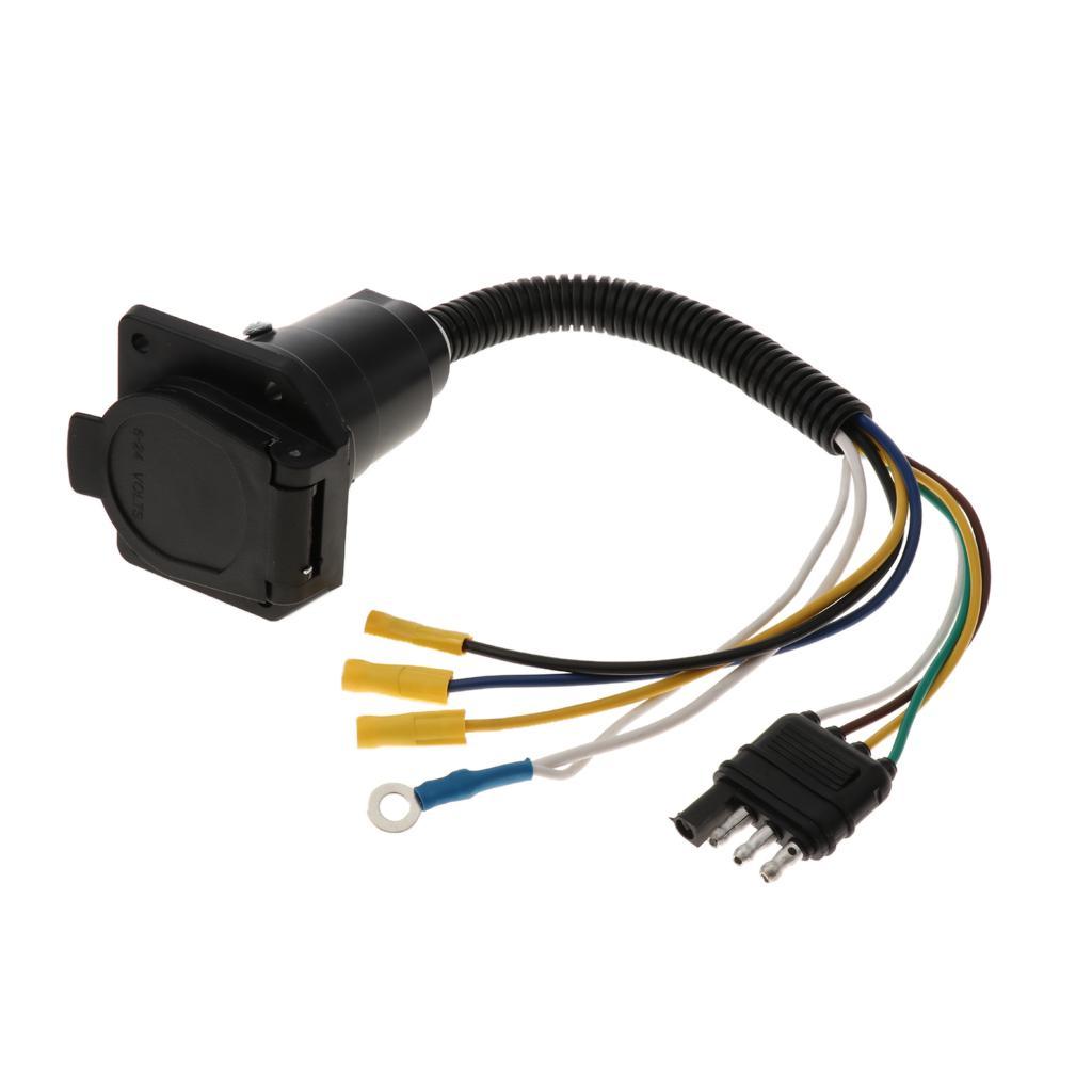 RV Taillight Harness Adapter Trailer fiação plug cauda lâmpada Converter 4 Pin Plano de 7 Pin lâmina redonda