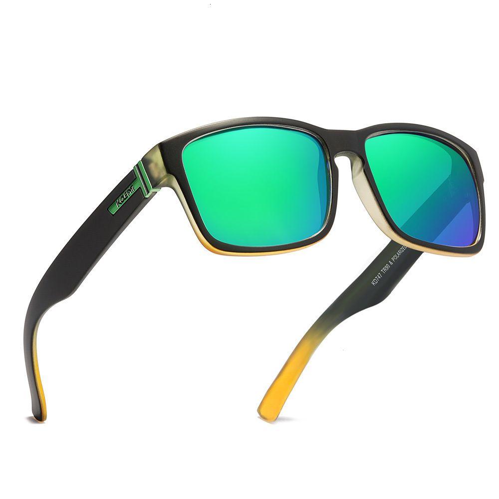 Kdeam Lifestyle haut de gamme lunettes de soleil polarisées Hommes Tr90 Cadre résistant aux chocs Hinges optiques en acier inoxydable Objectif