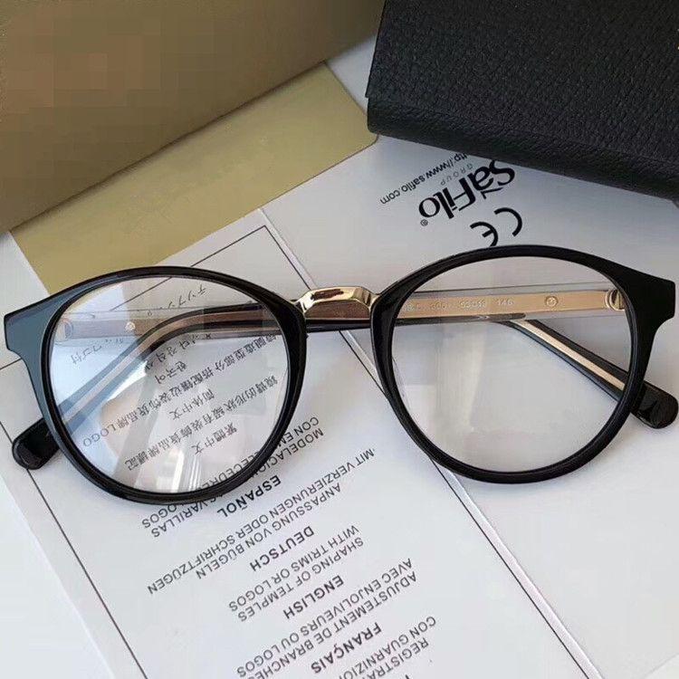 أحدث الجودة BE2259-D ريترو خمر نظارات إطار 53-19-145 فائقة الخفيفة طباعة نظارات لوح + المعادن وصفة طبية مع القضية كاملة تعيين