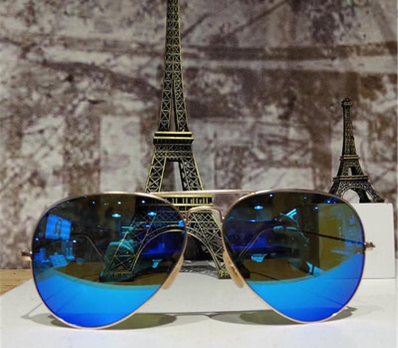 2020 nouveau pilote Polarized Lunettes de soleil Cadre Hommes Femmes Miroir Vintage design Sunglass Mode UV400 Métal Rétro extérieur Conduite Oculos de00