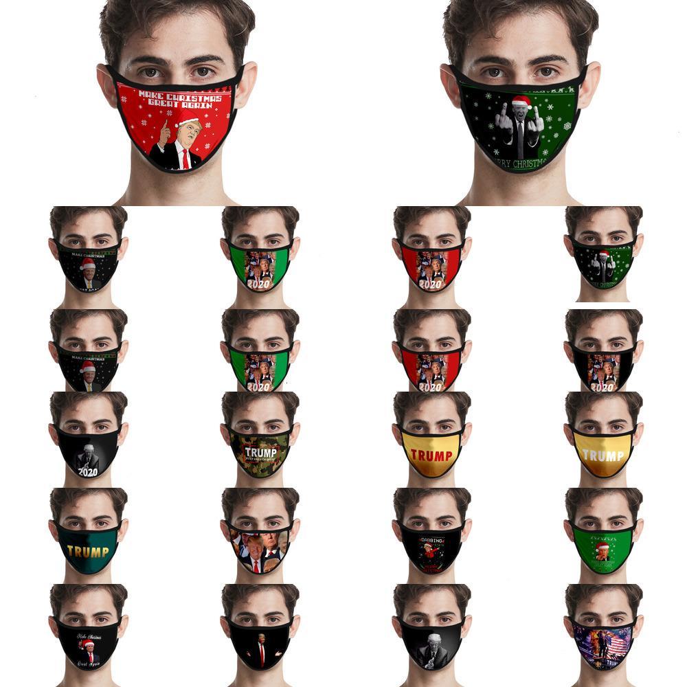 Q1FC moda Yeni Trump toz geçirmez baskılı Buz İpek kumaş yıkanabilir NENX maske 3d