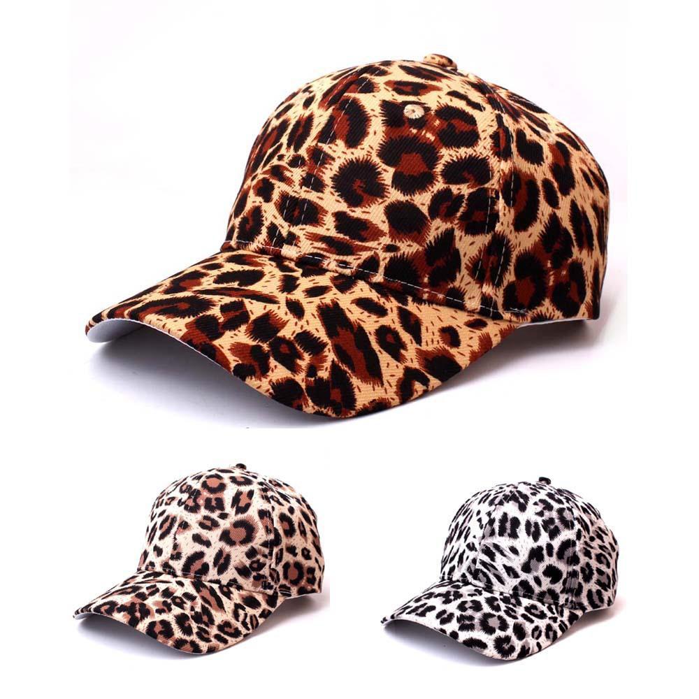 Leopard Berretto da baseball in cotone Donna Uomo Cappelli Hip Hop di nuovo modo di Lady break dance Cappello causale regolabile Cappelli visiera per Lady
