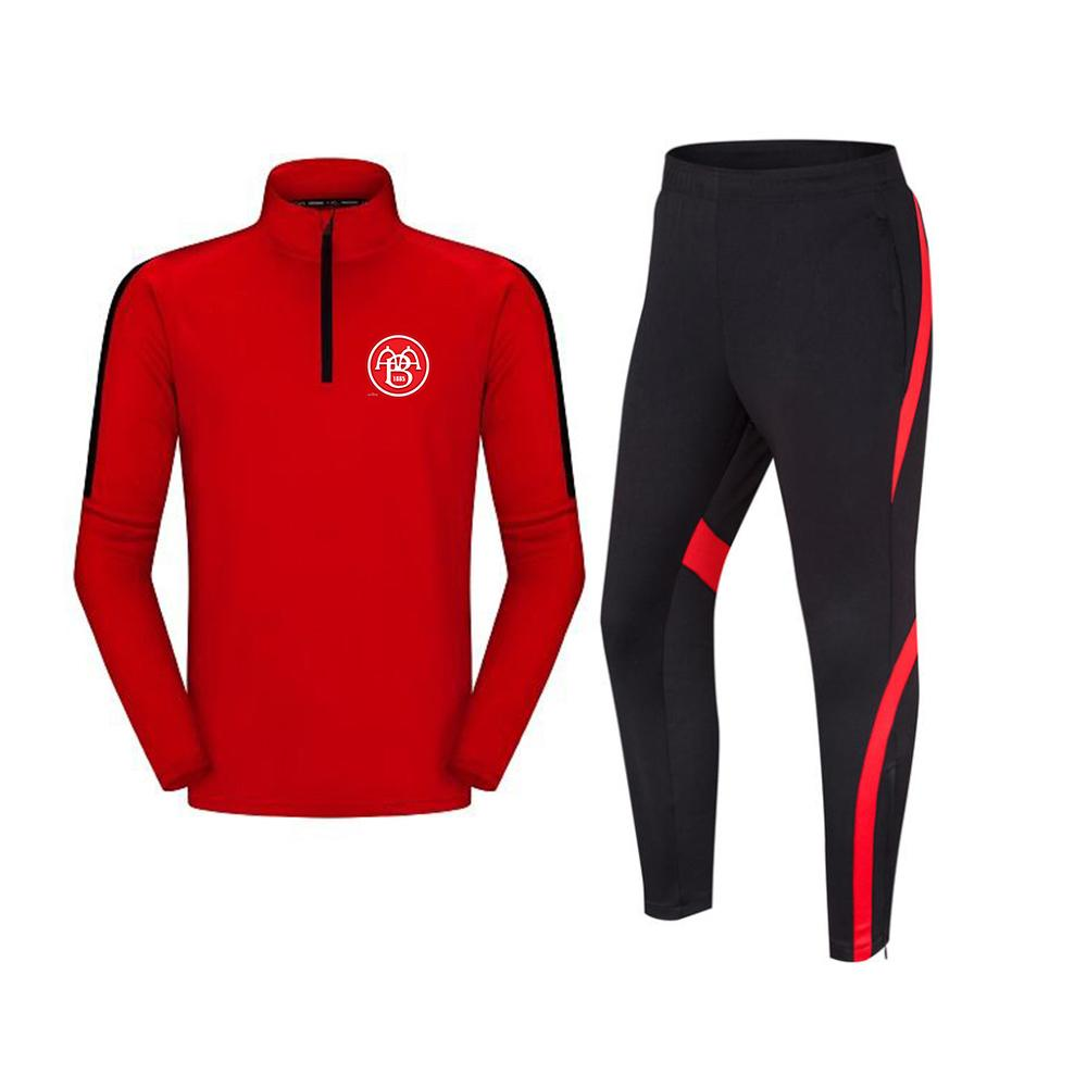 AAB fodbold f.c الرجال رياضية كرة القدم سترة التدريب الترفيه الدعاوى الكبار الاطفال الرياضية الركض ملابس المشي لمسافات طويلة