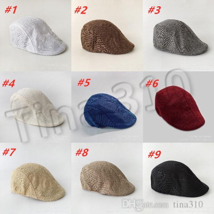 primavera e in autunno anatra biancheria retrò britannica NUOVI uomini lingua Beret colore solido cappello in avanti casuale cappello alla moda T500248