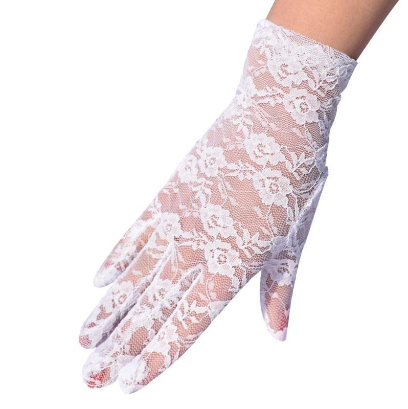 Hand Gloves Women Men Unisex Outdoor UV-proof Riding Screen Display Party Household Lace Hollow Out Vintage Breathable Gloves