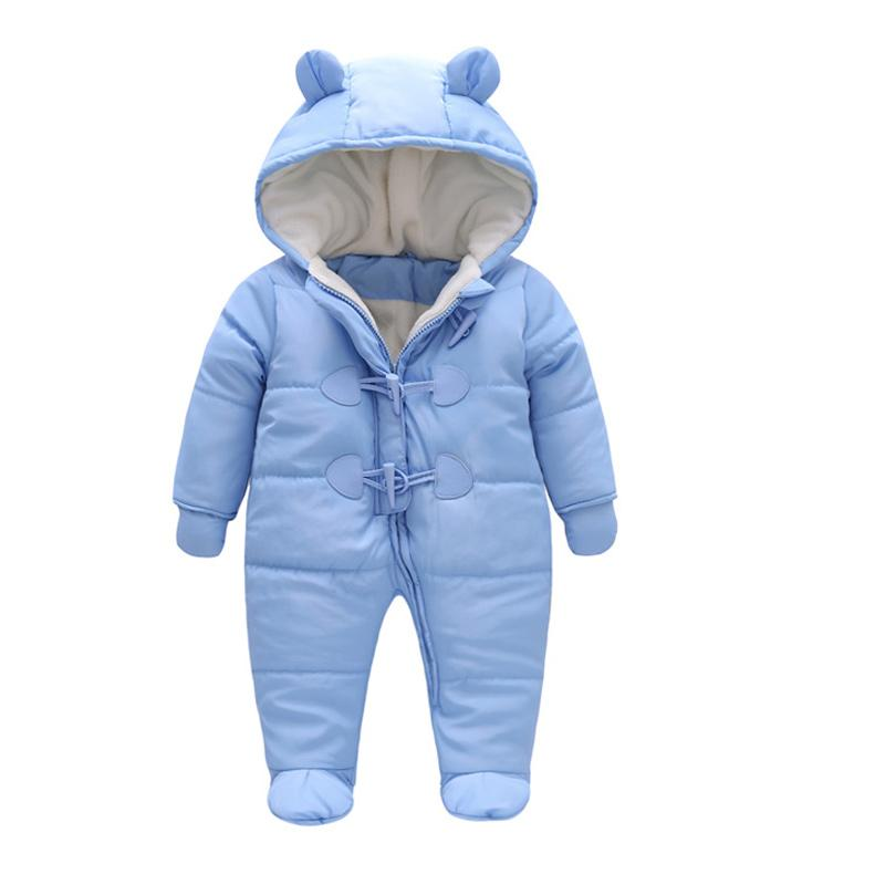 crianças inverno roupas de bebê recém-nascidos quente de algodão com capuz manga comprida Thicken snowsuits bebé menina jaquetas Romper e luvas casaco
