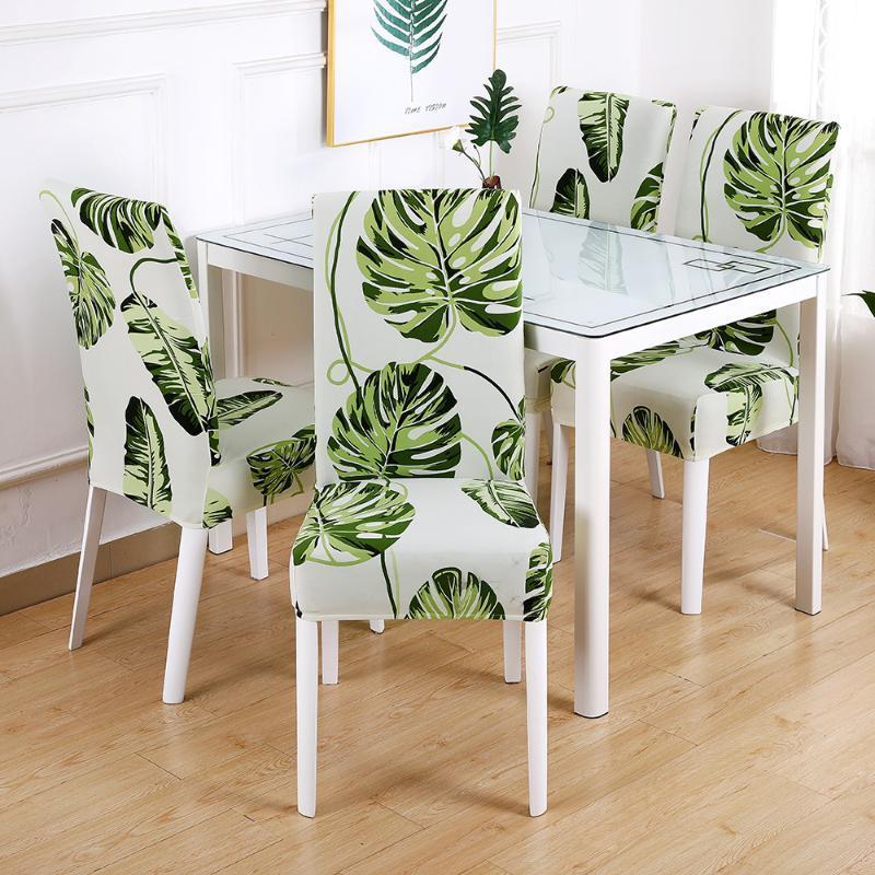 Стул охватывает цветочные печати Спандекс эластичный серый цвет сидения для свадьбы столовая банкетный дом