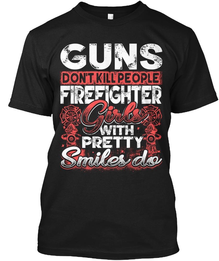 Hombres T MUCHACHAS del bombero - SONRISA Mujeres camiseta