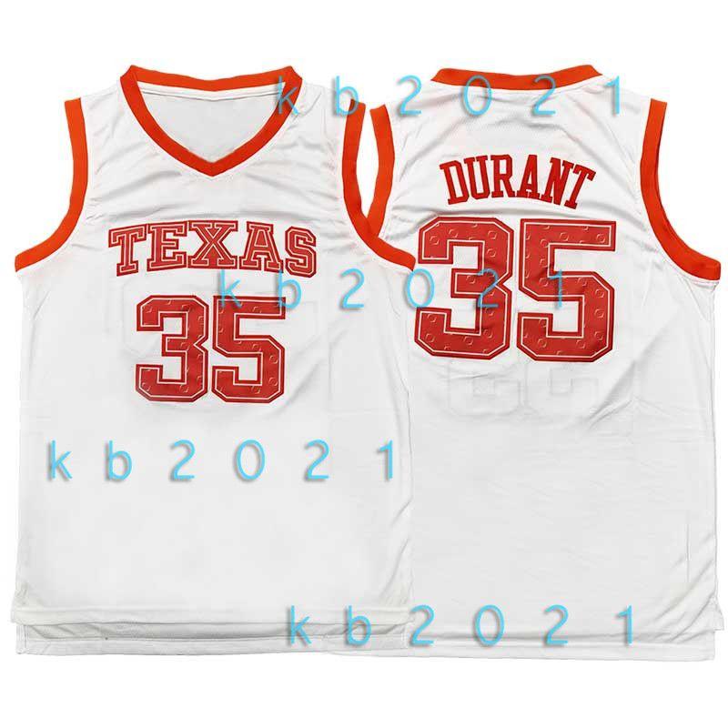 NCAA 7 Kevin Durant 35 Jersey Texas Longhorns College-Dwyane Wade 3 11 Irving LeBron James 23 Kyrie Ja 12 Morant Basketball-Trikots