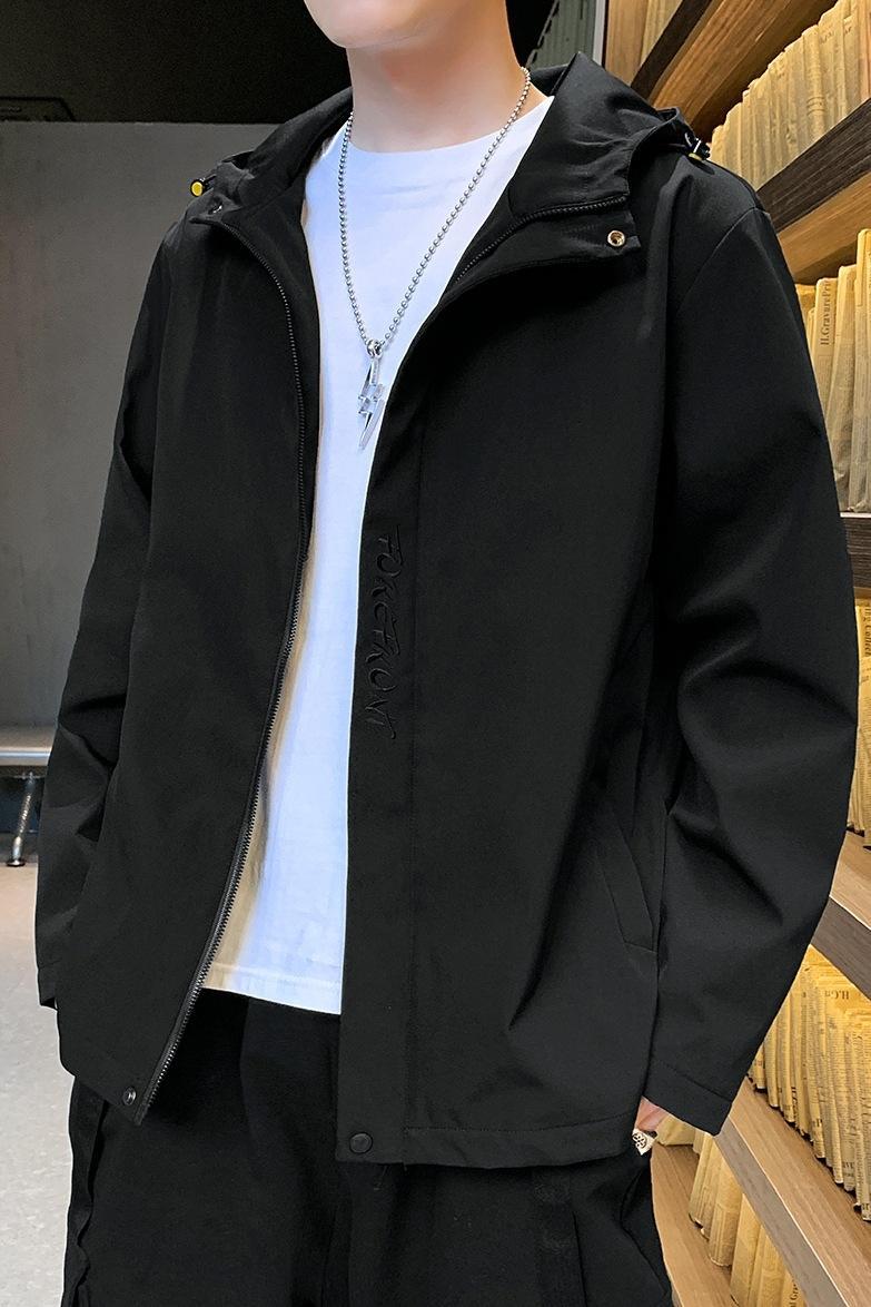 pebKq Qualitätsmann mit Kapuze Frühjahr und Herbst 2020 Jacke Herren-koreanischen Stil trendy Jacke verlieren QMPua neu