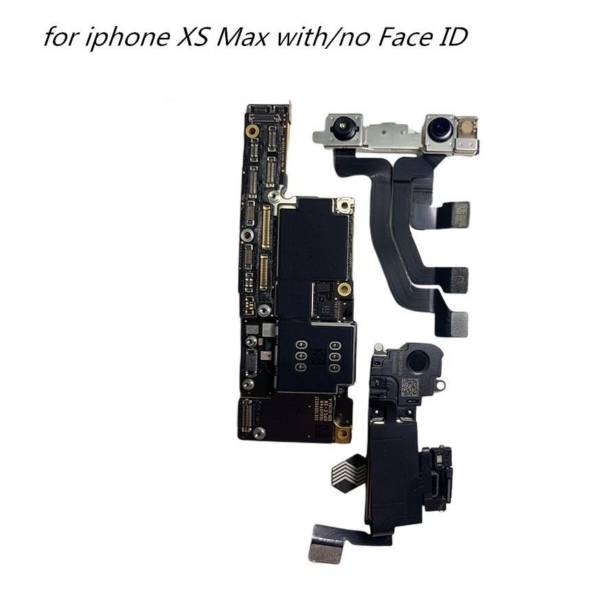 Motherboards telefone móvel para iPhone XS Max com / sem rosto ID Desbloqueado Mainboard para iPhone XS Max Logic Board