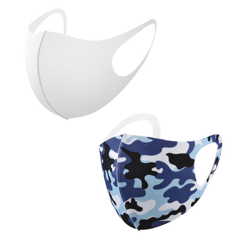 Blanches stéréoscopiques 3D Sublimation Masque visage Masque Adultes Masque de prévention de la poussière respirante Peut être réutilisé pour le transfert de chaleur bricolage Imprimer DHL GRATUIT