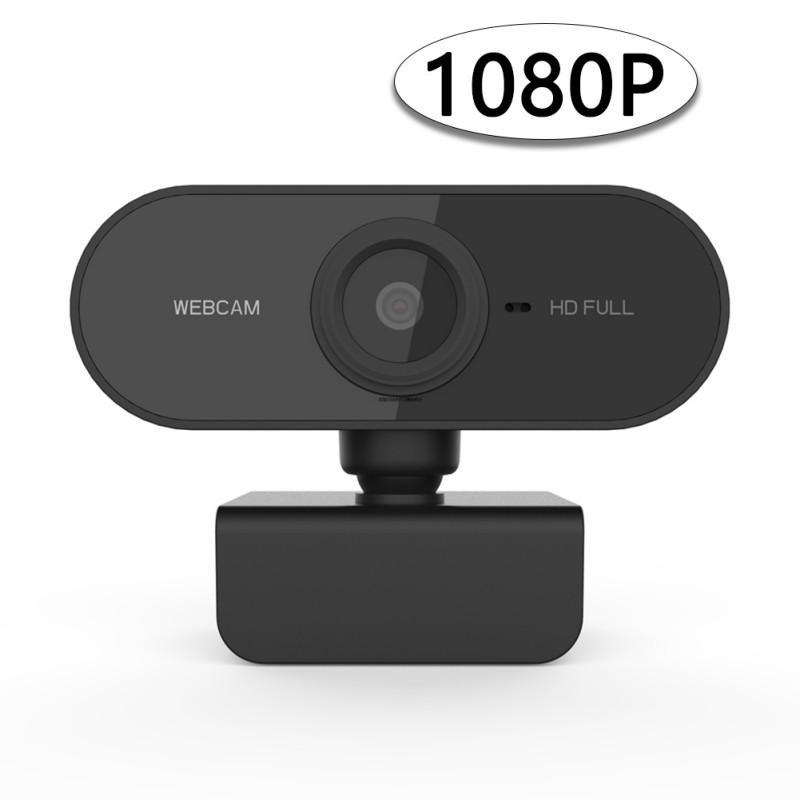 Cámara web HD 1080P cámara mini computadora PC IP con el micrófono de la cámara giratoria para videollamadas Conferencia de Trabajo Transmisión en Vivo