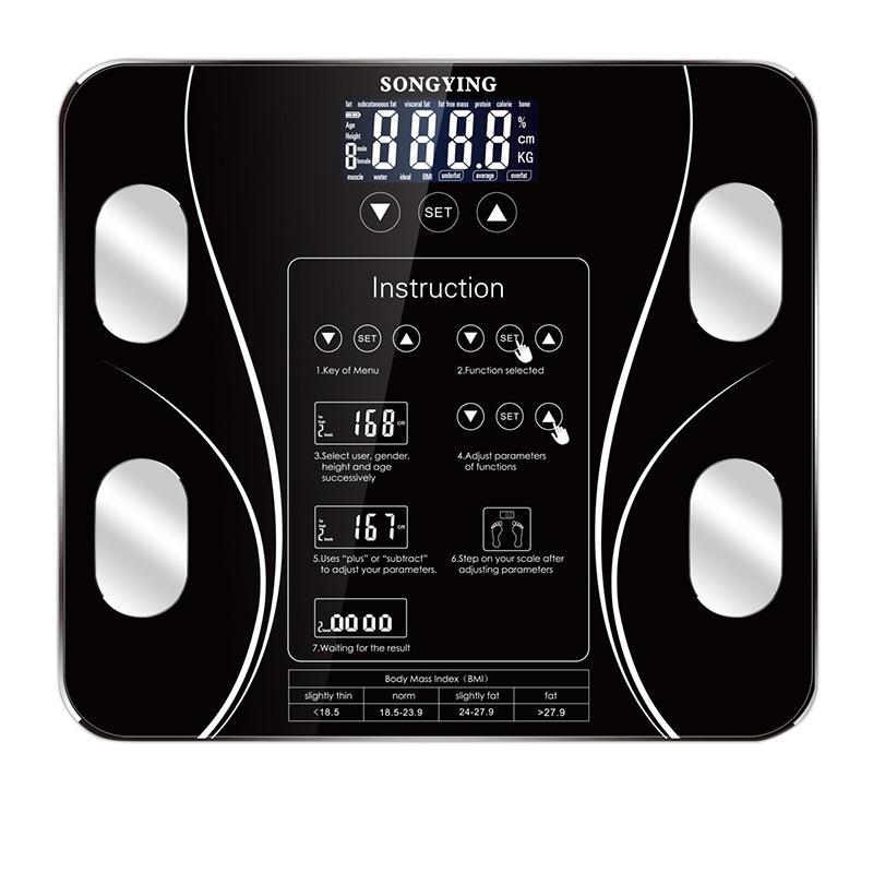 Ванная комната Кухонные весы Весы тела Умный беспроводной цифровой весовой композиционный анализатор
