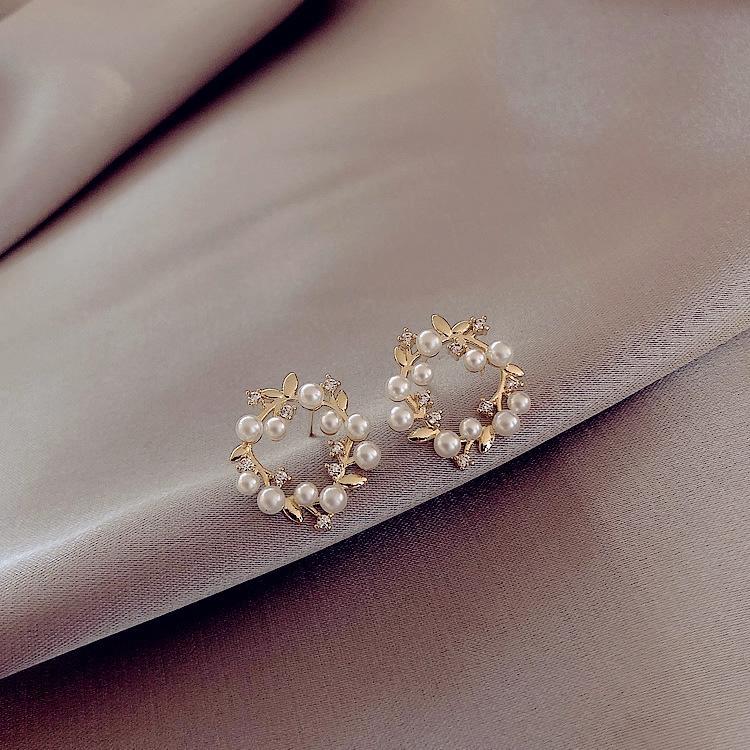 ylQWS Yeni moda İnci ve çevrimiçi popüler zarif basit küçük inci küpe 925 gümüş iğne Koreli küpe küpe