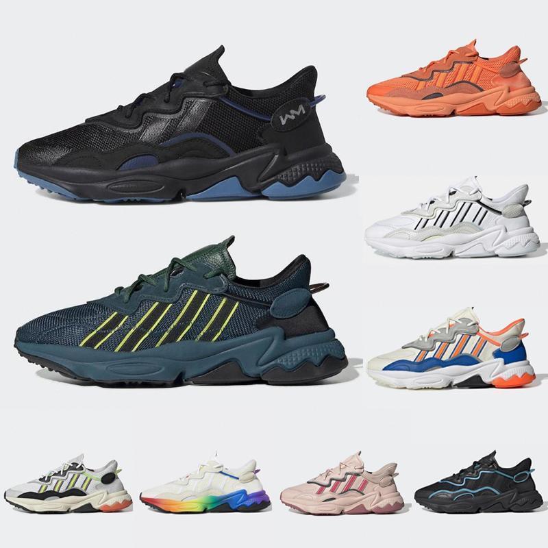 2020 Yeni Kral Push Ozweego Erkek Kadın Rahat Ayakkabılar Dönem Paketi Yansıtıcı Xeno Siyah Parlak Mavi Pusha T X Eğitmen Spor Sneakers