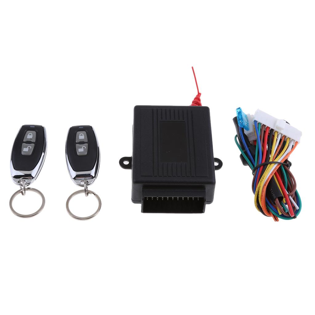 Car Kit telecomando Chiusura centralizzata Keyless Entry Allarmi di sistema, Nero alzacristalli elettrici Rising (è richiesto tronco motore della vostra auto di guida)
