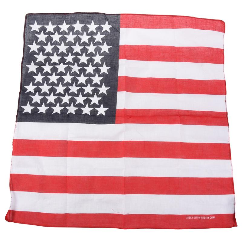 Handkerchief / Bandana for Head Hair US Flag Design