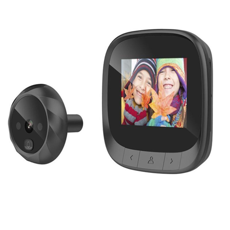 "2.4 ""Tela de cor LCD Campainha Digital 90 Grau Doorbell Eye Chapa Eletrônica Peaphole Camera Viewer Viewer Bell"