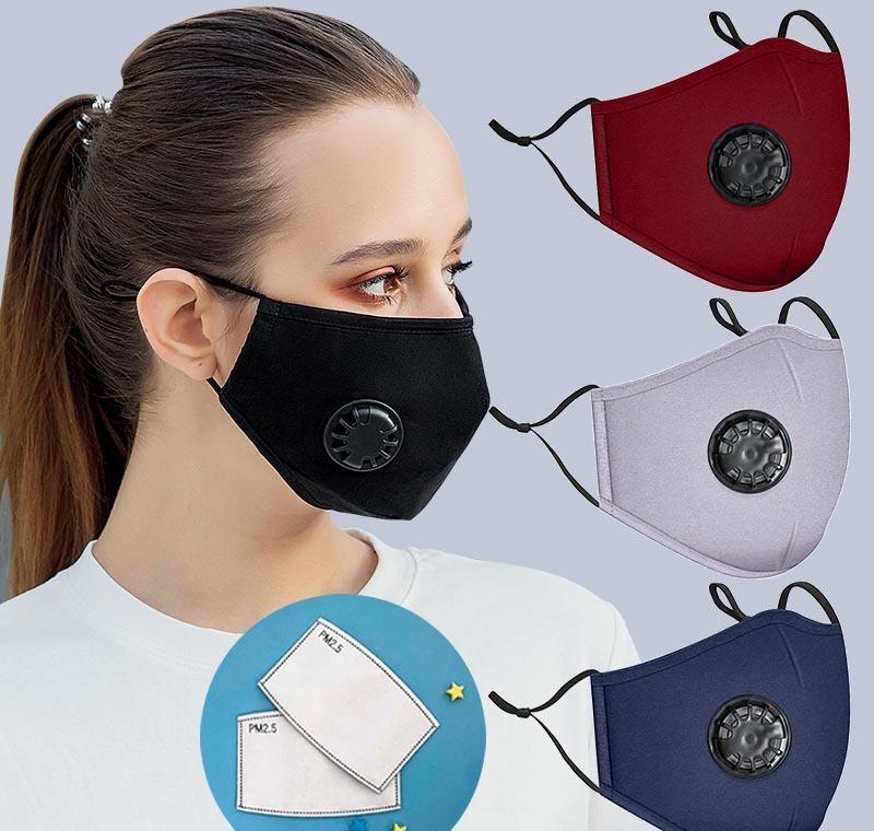 Maskeler Moda Koruyuculuklarla Pamuk 2 Nefes Nefes Erkekler Vana toz geçirmez ve Maske Yeniden Yıkanabilir Yüz Bayan Bisiklet Mmj2010