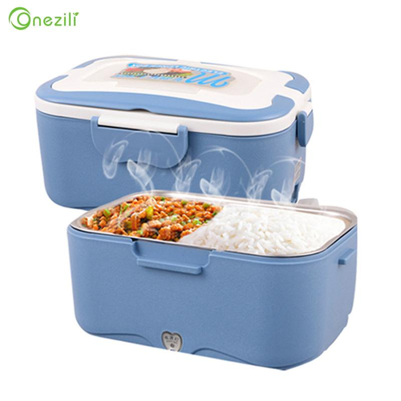 Electric Lunch Box Electric Stainless Steel Inner Pot Lunch Box Set Portable Heated Warmer 12V/24V/220V for Car/Truck