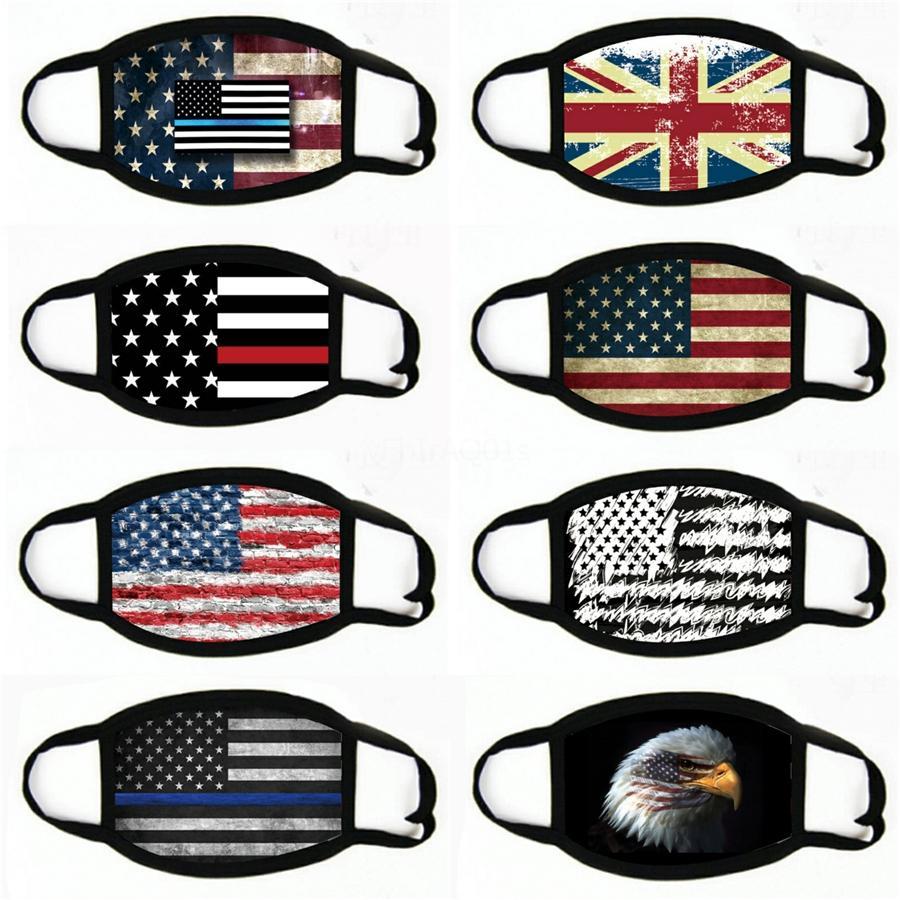 Amerika Ulusal Bayrak mascarilla PrintingFace Maske FunnyWashable İyi # 763