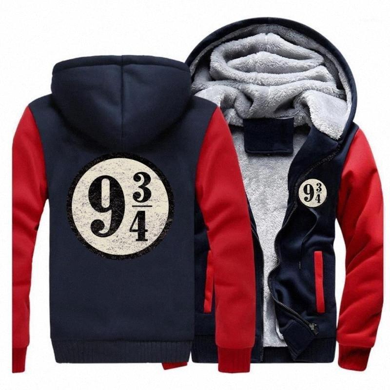 Tren a la plataforma nueve y tres cuartos sudaderas con capucha Casual chaqueta de invierno para hombre de la vendimia del suéter con capucha Marca Streetwear1 Qyox #