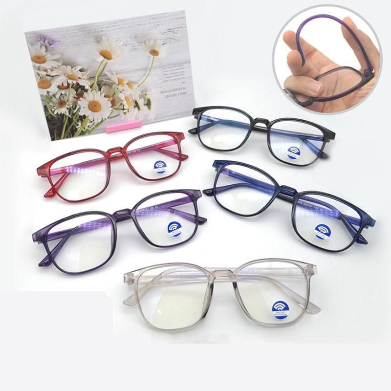 Jogos de luz Azul Anti Eyewear Computador Óptica Espetáculo Óculos Ultraleve Mulheres Tr90 Googles Ahora Ório Óculos Quadro VGNFQ