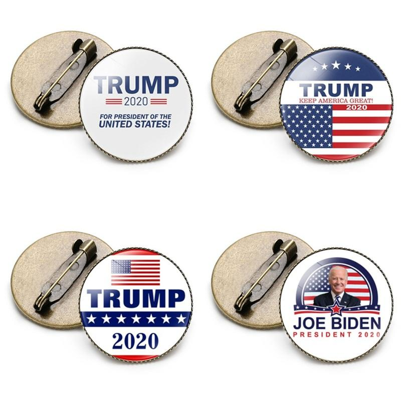 Partido Favor Presidente Broche Biden Trump Carta Lapel Pins Pins USA Elección General Partidumbre Tin Time GEM 1 2NH F2