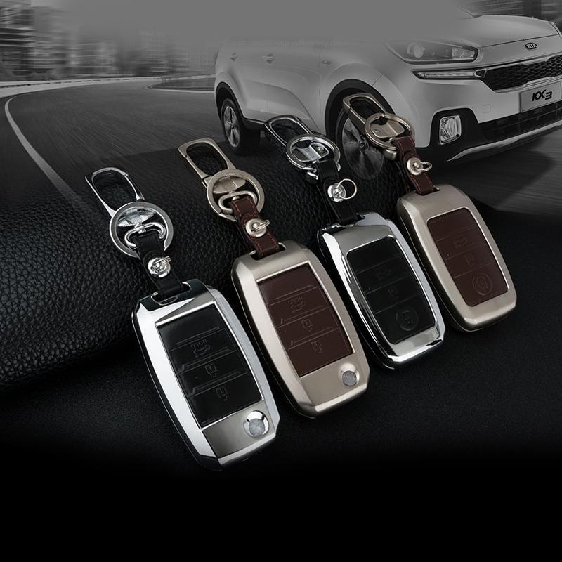 Ключевой набор сумка для KIA K2 K3 K4 K5 KX3 Forte Sorento Sportage SOUL Forte цинковый сплав Key оболочки Обложка чехол