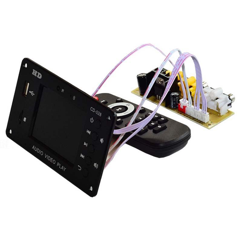 Bluetooth 5.0 MP3 DECODER PLAYER 2.8 pollici HD 7-24V Modulo di decodifica video multimediale AUX USB TF Card Amplificatori del suono FAI DA TE