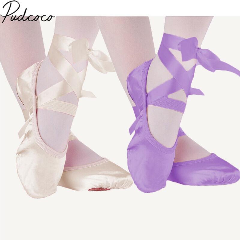 A001 DHL 2019 Enfants Bandage enfants Ballet Shoes Rose pourpre abricot toile rouge Ballet chaussures de danse de Split Suede Sole HOCOCAL FV3072 A001-001