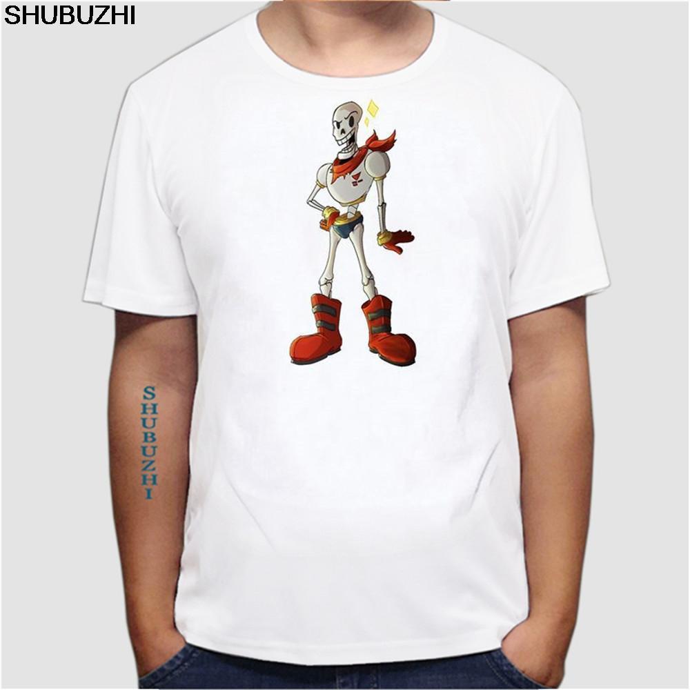 T-shirt New Animação Crânio undertale último jogo de manga curta Homens Hip Hop Slim Fit Camisetas Menino undertale Tee tamanho euro