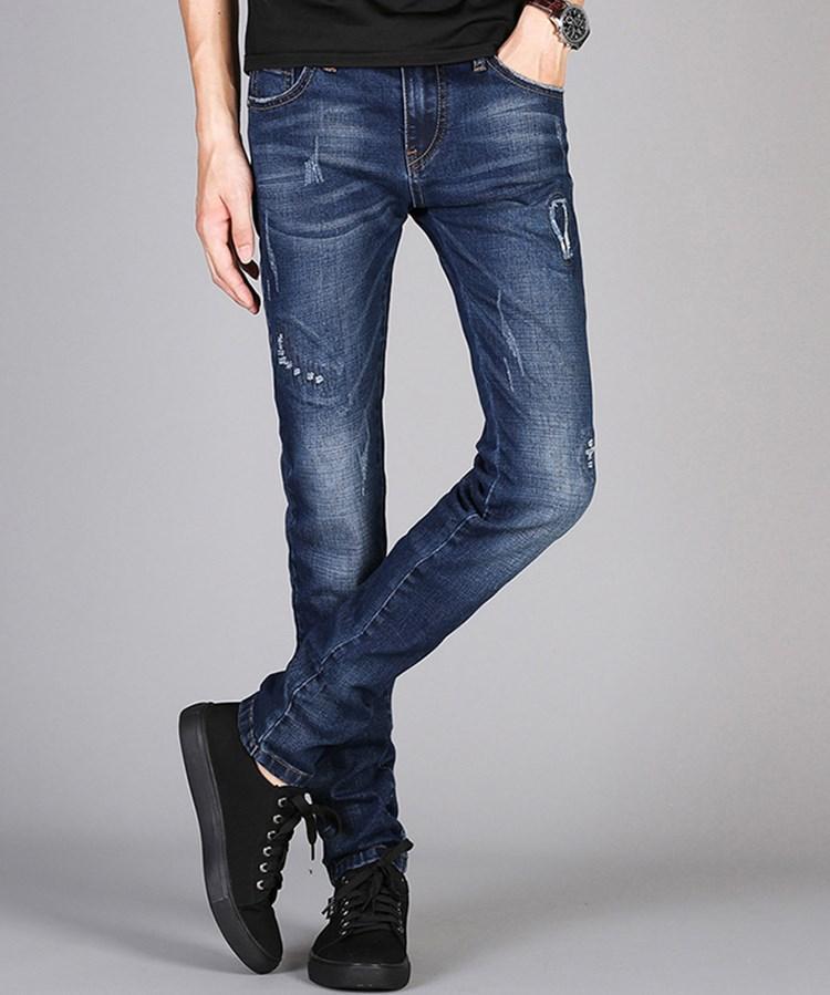 Продажа 2020 осень зима дизайнеры роскошные мужские джинсы европейская американская тенденция все-сопрягать тонкий стрейч карандаш брюки брюки случайные подростки